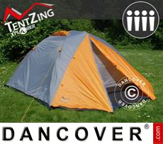 Camping tents,  TentZing® Xplorer, 4 persons, Orange/Grey