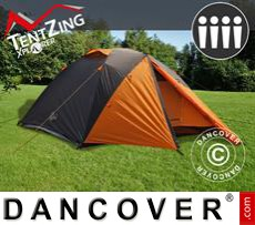 Camping tents,  TentZing® Xplorer, 4 persons, Orange/Dark Grey