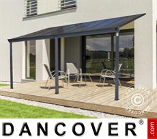 Carport Patio cover Malibu, 3x3.12m, Dark Grey
