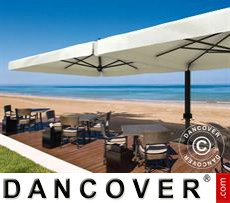 Cantilever parasol Alu Double with valance, 3x6 m, Ecru