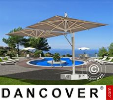 Cantilever parasol Milano Double, 3x6 m, Grey taupe