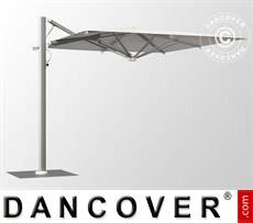 Cantilever parasol w/base, Galaxia Astro Spacegrey, 3x3m, Ecru