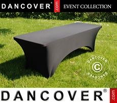 Stretch table cover, 200x90x74 cm, Black