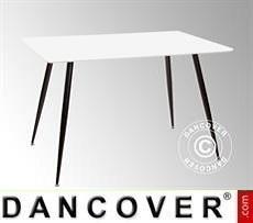 Dining table, Siena, 120x80x76 cm, White/Black