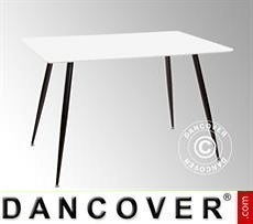 Dining table, Siena, 120x80x76 cm, White/Black