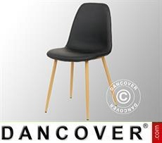 Dining chair, Napoli, Black/Oak, 4 pcs.