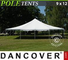 Pole tent 9x12 m PVC, White