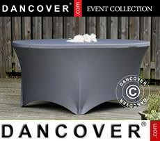 Stretch table cover, Ø152x74 cm, Grey