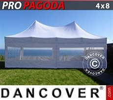 Party Marquee PRO Peak Pagoda 4x8 m White, incl. 6 sidewalls
