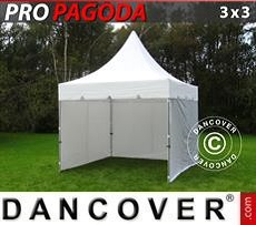 Party Marquee PRO Peak Pagoda 3x3 m White, incl. 4 sidewalls