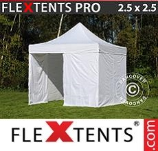 Pop up canopy PRO 2.5x2.5 m White, incl. 4 sidewalls