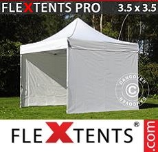Pop up canopy PRO 3.5x3.5m White, incl. 4 sidewalls