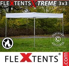 Pop up canopy Xtreme Exhibition 3x3 m, White, Flame Retardant