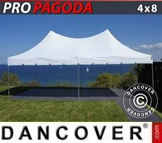 Pop Up Marquee PRO Peak Pagoda 4x8 m White