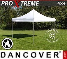 Pop Up Marquee Xtreme 4x4 m White, Flame retardant