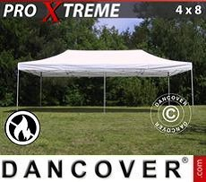 Pop Up Marquee Xtreme 4x8 m White, Flame retardant