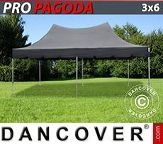 Pop Up Marquee PRO Peak Pagoda 3x6 m Black