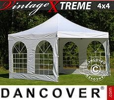 Pop Up Marquee Xtreme Vintage Style 4x4 m White, incl. 4 sidewalls