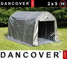 Portable GaragePRO 2x3x2 m PE, with ground cover, Grey