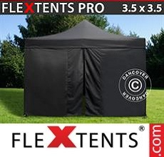 Racing tent PRO 3.5x3.5m Black, incl. 4 sidewalls
