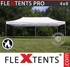 Racing tent PRO 4x8 m White, Flame retardant
