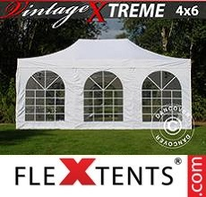 Racing tent  Xtreme Vintage Style 4x6 m White, incl. 8 sidewalls