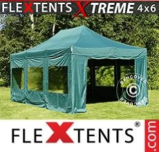 Racing tent Xtreme 4x6 m Green, incl. 8 sidewalls
