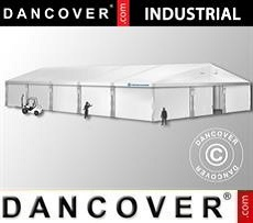Industrial Storage Hall 12x25x5,92 m w/sliding gate, PVC, White