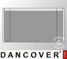 Endwall UNICO 3 m with wide door, Dark Grey