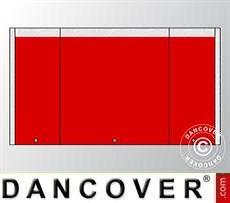 Endwall UNICO 3 m with narrow door, Red