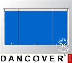 Endwall UNICO 4 m with narrow door, Blue