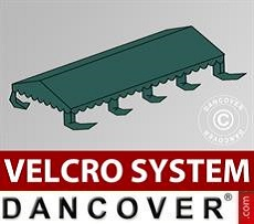 Roof cover for Marquee UNICO, PVC/Polyester, 4x8m, Dark Green