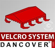Roof cover for Marquee UNICO, PVC/Polyester, 4x6m, Red