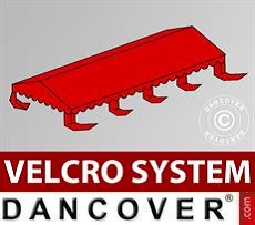 Roof cover for Marquee UNICO, PVC/Polyester, 4x8m, Red