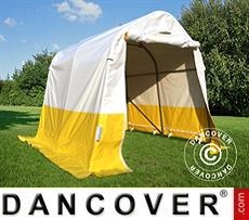 Work tent PRO 2x2x2 m, PVC, White/Yellow, Flame retardant