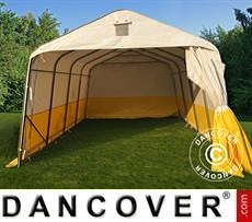 Work tent PRO 3.6x4.8x2.7 m, PVC, White/Yellow, Flame retardant