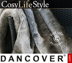 Faux Fur Blanket 130x165 cm Mixed colours