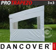 CARAVAN AWNINGS: Pop up gazebo FleXtents PRO Trapezo 3x3m, incl. 4 sidewalls