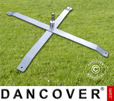 Steel cross foot for Beach flags