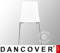 Chair, Lollipop, Glossy white, 6 pcs.