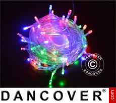LED Fairy lights, 25 m, Multifunction, Multi coloured, Transparent cord