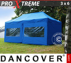Pop up gazebo FleXtents Xtreme 3x6 m Blue, incl. 6 sidewalls