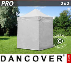 Pop up gazebo FleXtents PRO 2x2 m White, incl. 4 sidewalls