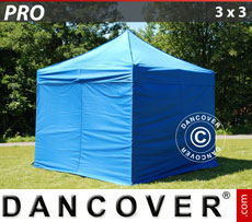 Pop up gazebo FleXtents PRO 3x3 m Blue, incl. 4 sidewalls