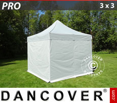 Pop up gazebo FleXtents PRO 3x3 m silver, incl. 4 sidewalls