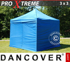 Pop up gazebo FleXtents Xtreme 3x3 m Blue, incl. 4 sidewalls