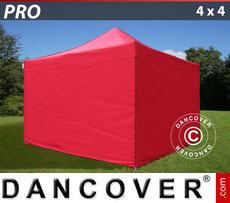Pop up gazebo FleXtents PRO 4x4 m Red, incl. 4 sidewalls