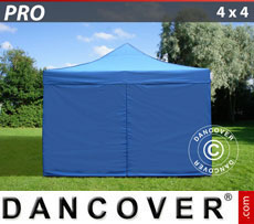 Pop up gazebo FleXtents PRO 4x4 m Blue, incl. 4 sidewalls