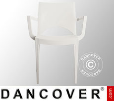 Chair with armrests, Paris, White, 6 pcs.