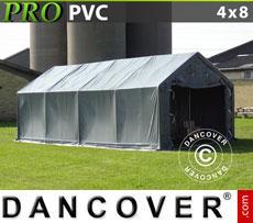 Storage shelter PRO 4x8x2x3.1 m, PVC
